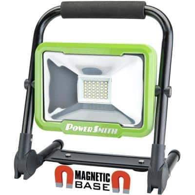 2400 Lumens Weatherproof Rechargeable Lithium-ion Foldable LED Work Light with Magnetic Stand, USB Charger