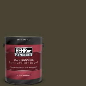 Behr Ultra 1 Gal Ppu5 01 Espresso Beans Flat Exterior Paint And Primer In One 485301 The Home Depot