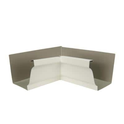 5 in. Bone Linen Aluminum Inside Miter Box
