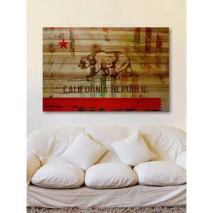 40 in. H x 60 in. W ''Cali'' by Parvez Taj Printed Natural Pine Wood Wall Art