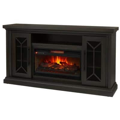 Madison 68 in. Media Console Infrared Electric Fireplace in Dark Chocolate