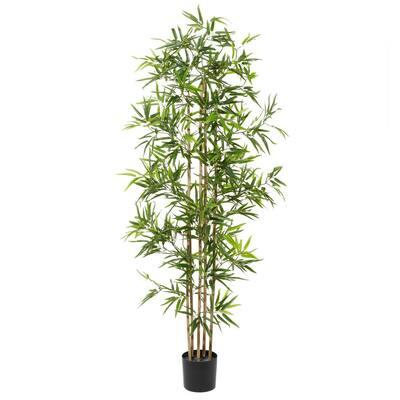 77 in. Green Artificial Bamboo Plants Indoor