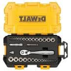 1/4 in. and 3/8 in. Drive Socket Set (34-Piece)