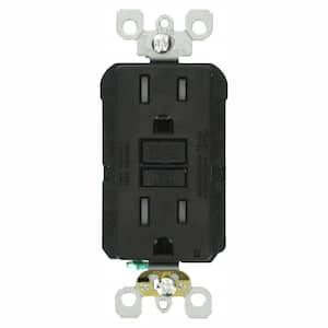 15 Amp 125-Volt Duplex SmarTest Self-Test SmartlockPro Tamper Resistant GFCI Outlet, Black (9-Pack)