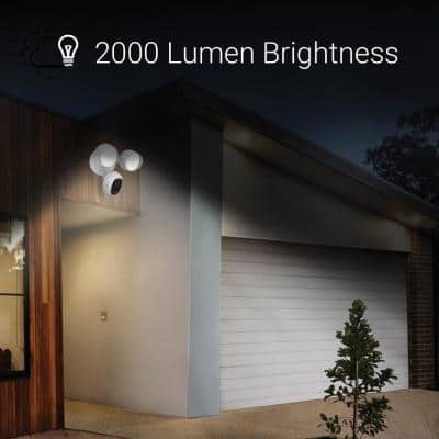 Wired Outdoor Smart Floodlight Security Camera with Alarm System