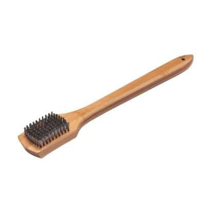Bamboo Grill Brush with Scraper
