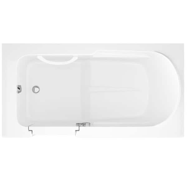 Universal Tubs Step In 59 6 In Walk In Non Whirlpool Bathtub In White With 1 28 Gpf Single Flush Toilet Hdsi3060lws 55 The Home Depot