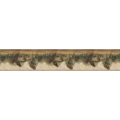 Pomona Chestnut Pine Hill Chestnut Wallpaper Border