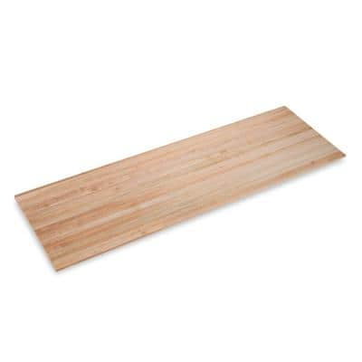 Finished Maple 10 ft. L x 36 in. D x 1.75 in. T Butcher Block Island Countertop with Eased Edge