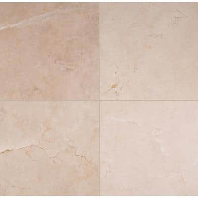 Crema Marfil 18 in. x 18 in. Polished Marble Floor and Wall Tile (9 sq. ft./Case)