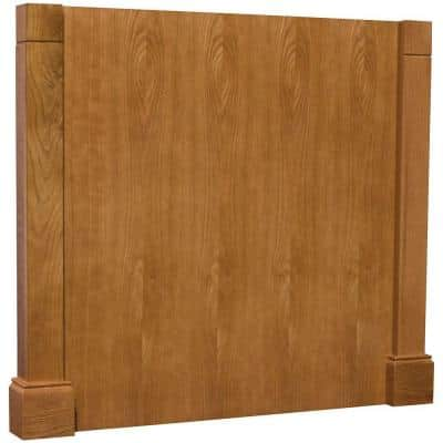 3x34.5x37.5 in. Decorative Island End Panel in Medium Oak
