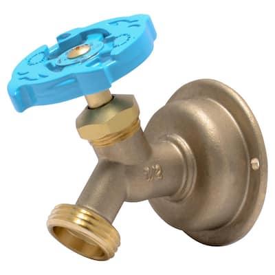 1/2 in. Push-to-Connect x MHT Brass Multi-Turn No Kink Hose Bibb