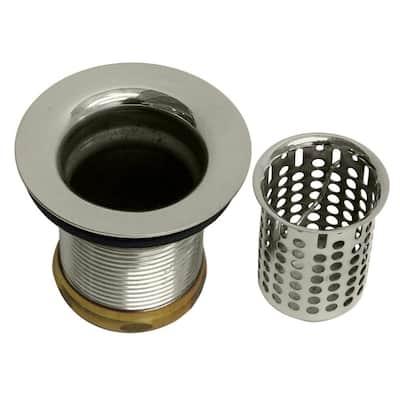 2-1/4 in. Junior Basket Style Bar Sink Strainer in Polished Nickel