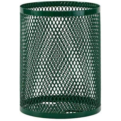 Portable 32 Gal. Green Diamond Commercial Trash Can