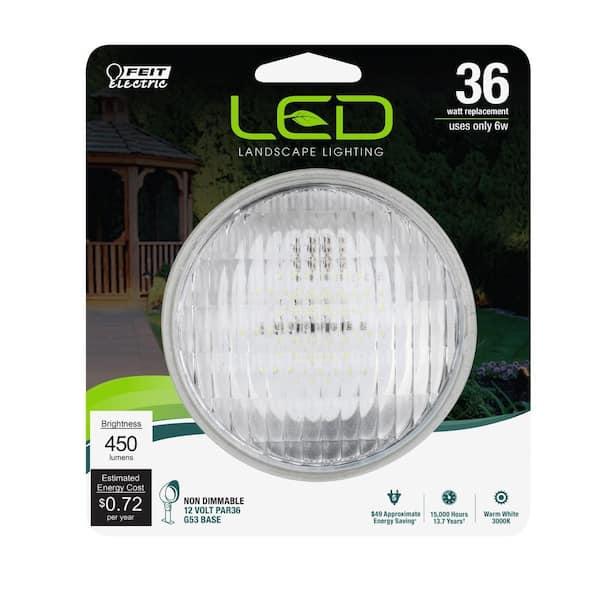 Pack of 6 Feit Electric BPLV14PAR36 14W 3000K 100 Lumens Halogen Light Bulb