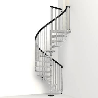 Enduro 55 in. Galvanized Steel Spiral Staircase Kit