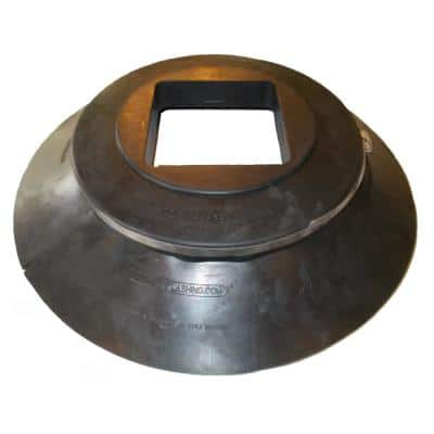 All Style Large Retro-Split Storm Collar Roof Flashing for 6 in. x 6 in. x Wall Square Structural Pipe