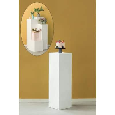 12 in. W x 39.4 in. H Display Cube Decorative Pillar Column Flower Stand Wedding Pedestal
