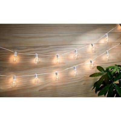 Outdoor/Indoor 12 ft. Plug-In Incandescent G50 Bulb String Light (12-Heads)