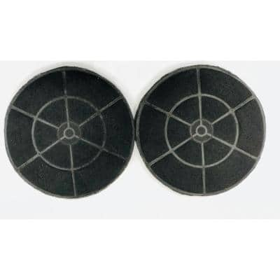 Range Hood Carbon/Charcoal Filters for Non-Ducted Recirculating Installation and Replacement (Set of 2)