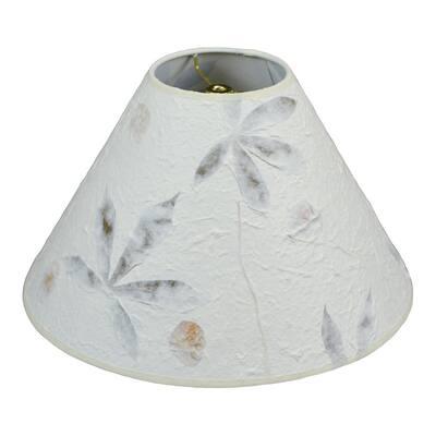 5 in. Top Diameter x 15 in. Bottom Diameter x 10 in. Slant Paper Kozo Fuchsia Cosmos Coolie Lamp Shade