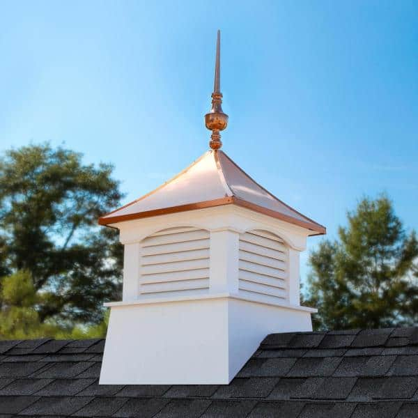 Good Directions 30 In X 30 In X 69 In Coventry Vinyl Cupola With Victoria Copper Finial 2130cv 742 The Home Depot