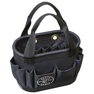 Hard-Body Bucket, 29-Pocket Aerial Bucket, Black