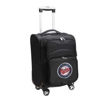 MLB Minnesota Twins 21 in. Black Carry-On Spinner Softside Suitcase