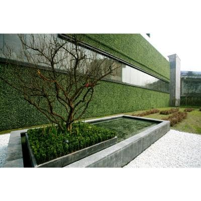 """20"""" x 20"""" Yellow Tip Green Beauty Leaves-Artificial Boxwood Hedges, Living Wall Panels (12 pcs)"""