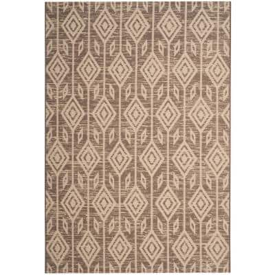 Courtyard Dark Beige/Beige 5 ft. x 8 ft. Indoor/Outdoor Area Rug