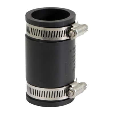 1 in. PVC Flexible Coupling with Stainless Steel Clamps