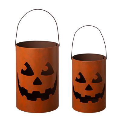8.27 in. H and 11.02 in. H Halloween Jack O Lantern (Set of 2)
