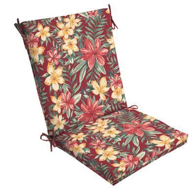 20 x 44 Ruby Clarissa Tropical Outdoor Dining Chair Cushion