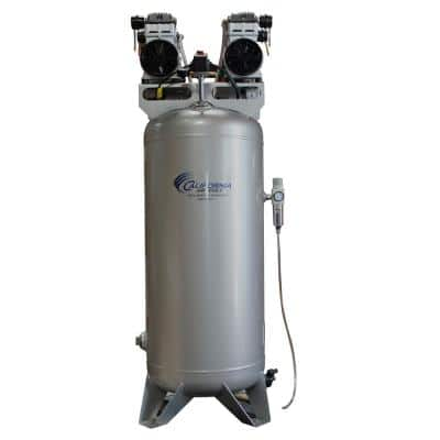 60 Gal. Stationary Ultra Quiet and Oil-Free 4.0 HP Electric Air Compressor with Automatic Drain Valve