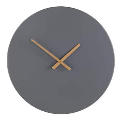 Sorcio Gray and Gold Decorative Wall Clock