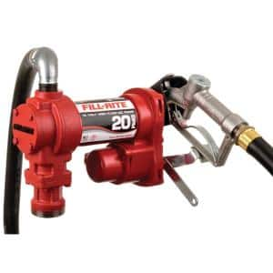 12-Volt 20 GPM 1/4 HP Fuel Transfer Pump (Manual Nozzle Package)