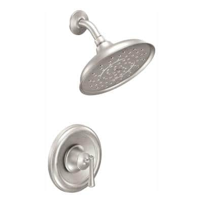 Ashville Single-Handle 1-Spray Shower Faucet in Spot Resist Brushed Nickel (Valve Included)