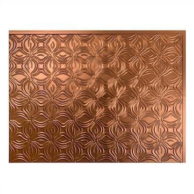 18.25 in. x 24.25 in. Lotus Vinyl Backsplash Panel in Oil Rubbed Bronze (5-Pack)
