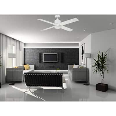 52 in. White Ceiling Fan