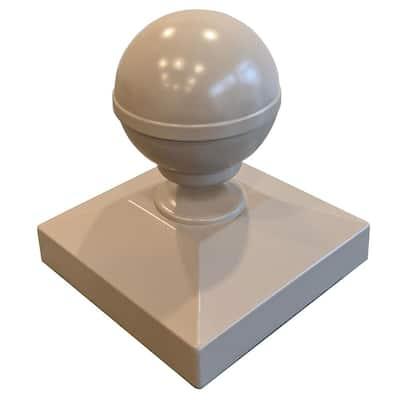 Aluminum 3 in. x 3 in. Clay Ball Post Cap