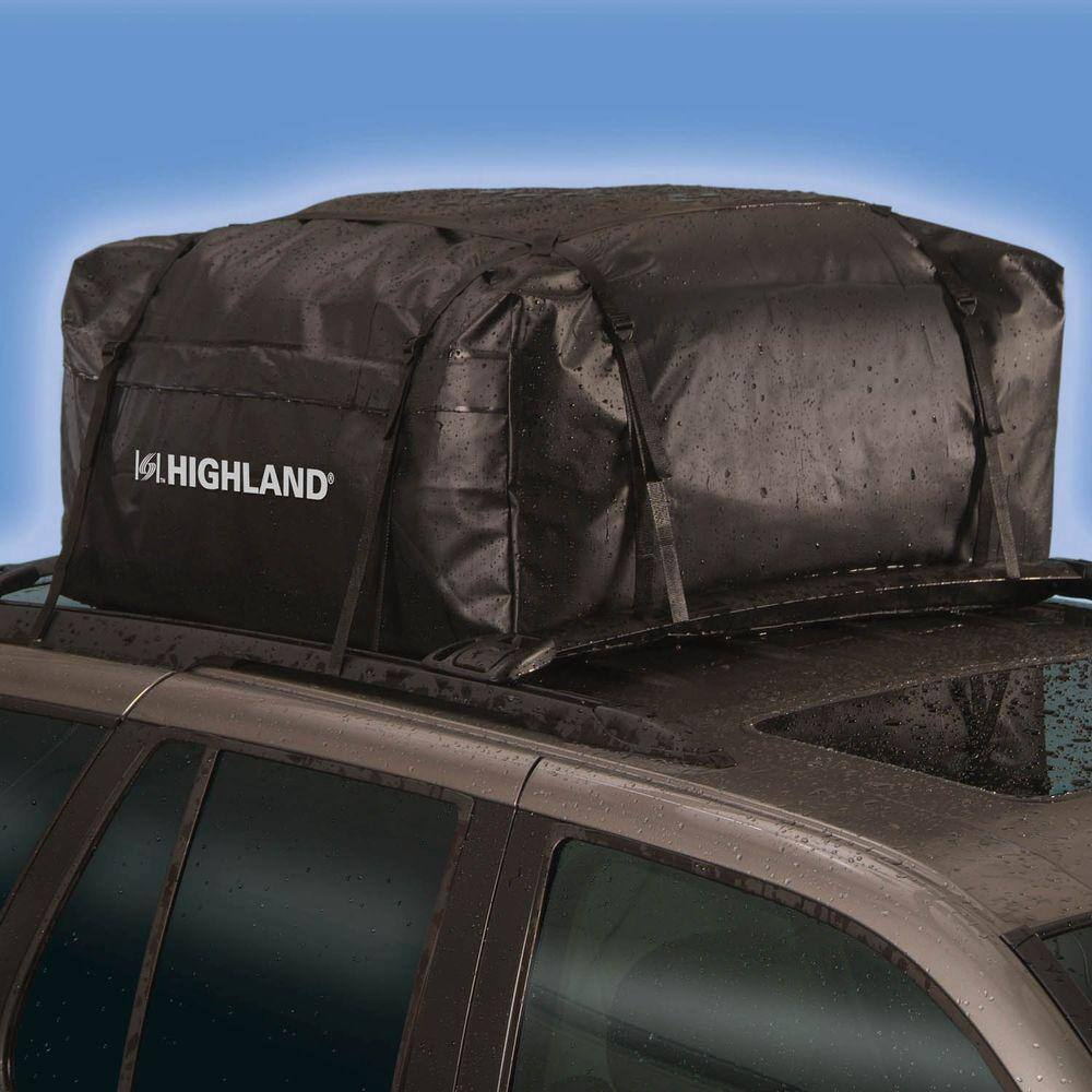 Highland 15 Cu Ft Waterproof Rooftop Cargo Bag With Storage Sack 1038900 The Home Depot