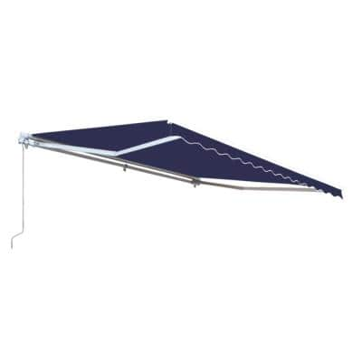10 ft. Motorized Retractable Awning (96 in. Projection) in Blue