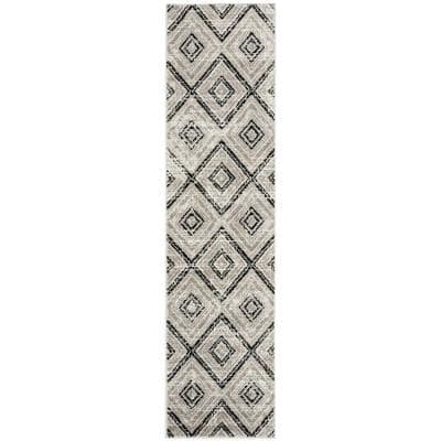 Skyler Gray/Black 2 ft. x 12 ft. Runner Rug