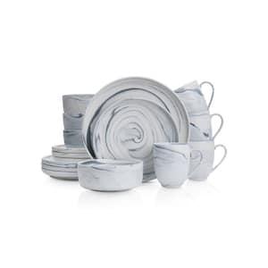 16-Piece Casual Gray Porcelain Dinnerware Set (Set for 4)