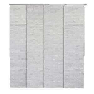 Mica Pleated Natural Woven Adjustable Sliding Window Panel Track with 23 in. Slates Up to 86 in. W x 96 in. L