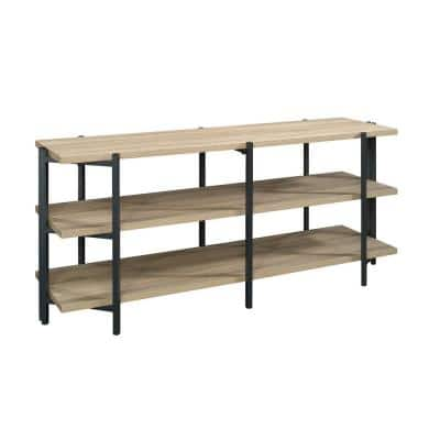 North Avenue 57 in. Charter Oak Composite TV Stand Fits TVs Up to 55 in. with Open Storage