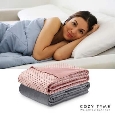 "Eshe Weighted Blanket 8 Pound 48""x72"", Blush"