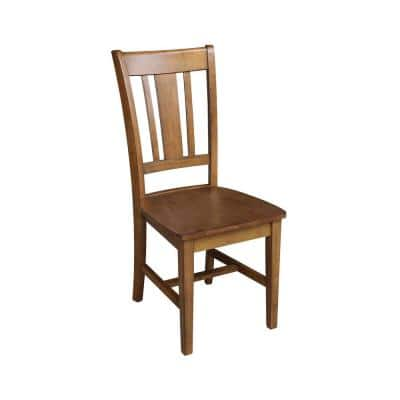 San Remo Distressed Pecan Wood Dining Chair (Set of 2)
