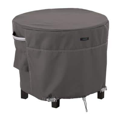 Ravenna 26 in. Dia x 18 in. H Round Patio Ottoman/Table Cover