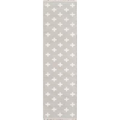 Topanga Lucille Grey 2 ft. 3 in. x 8 ft. Runner Rug